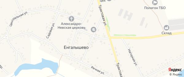 Школьная улица на карте села Енгалышево с номерами домов