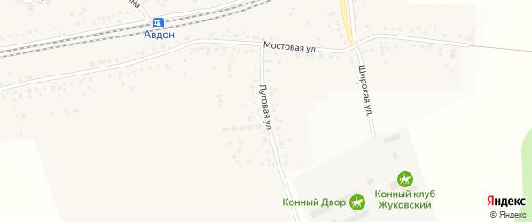 Луговая улица на карте села Жуково с номерами домов