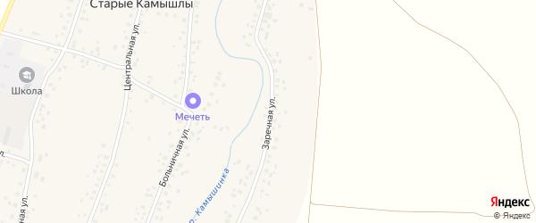 Заречная улица на карте села Старых Камышлы с номерами домов
