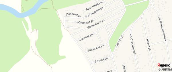 Садовая улица на карте села Таптыково с номерами домов