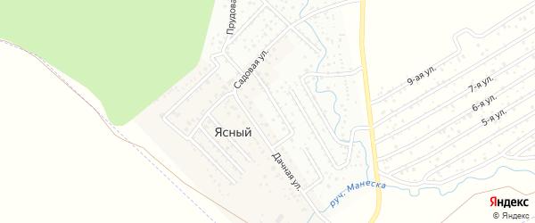 Садовая улица на карте деревни Ясного с номерами домов
