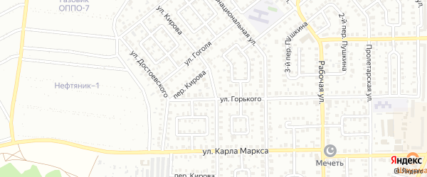 Улица Кирова на карте Кумертау с номерами домов