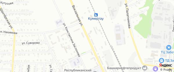 Вокзальная улица на карте Кумертау с номерами домов