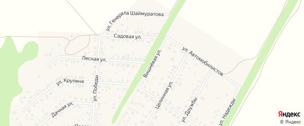 Вишневая улица на карте села Жуково с номерами домов