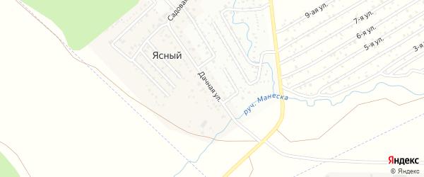 Дачная улица на карте деревни Ясного с номерами домов