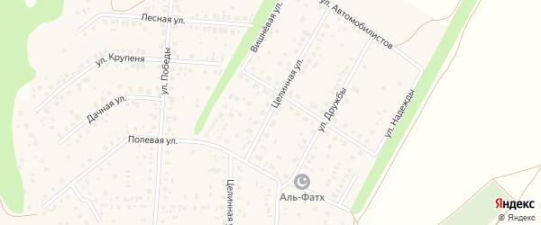 Целинная улица на карте села Жуково с номерами домов