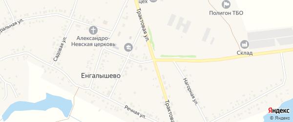 Тупиковый переулок на карте села Енгалышево с номерами домов