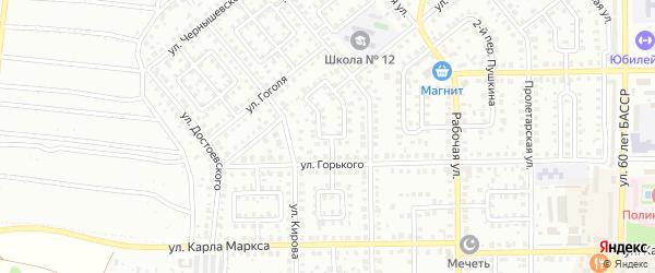 Горького 1-й переулок на карте Кумертау с номерами домов