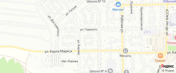 Горького 2-й переулок на карте Кумертау с номерами домов