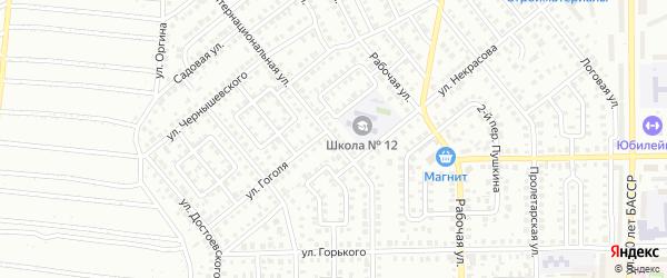 Интернациональная улица на карте Кумертау с номерами домов