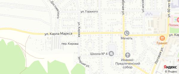 К.Маркса 2-й переулок на карте Кумертау с номерами домов