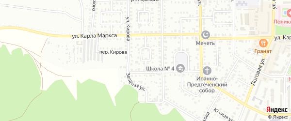 К.Маркса 1-й переулок на карте Кумертау с номерами домов