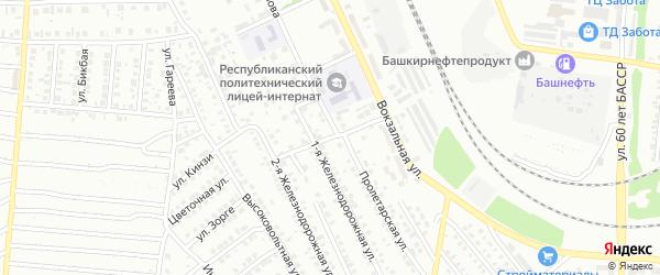 Вокзальный переулок на карте Кумертау с номерами домов