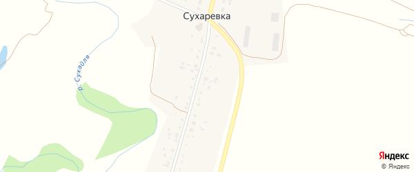 Сухаревская улица на карте деревни Сухаревки с номерами домов