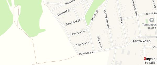 Речная улица на карте села Таптыково с номерами домов