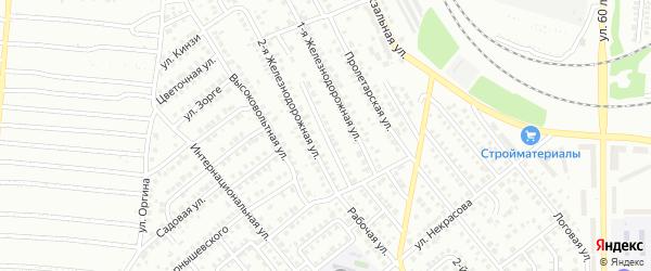 Железнодорожный переулок на карте Кумертау с номерами домов