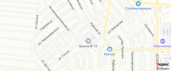 Интернациональный 1-й переулок на карте Кумертау с номерами домов