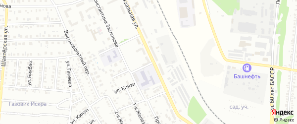 Массив 7 Вокзальная улица на карте Кумертау с номерами домов