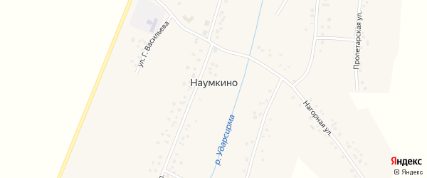 Пролетарская улица на карте деревни Наумкино с номерами домов