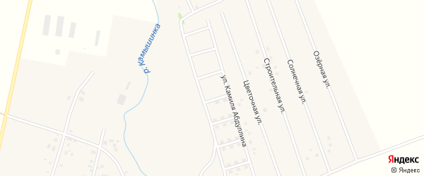 Дорожный переулок на карте села Старых Камышлы с номерами домов