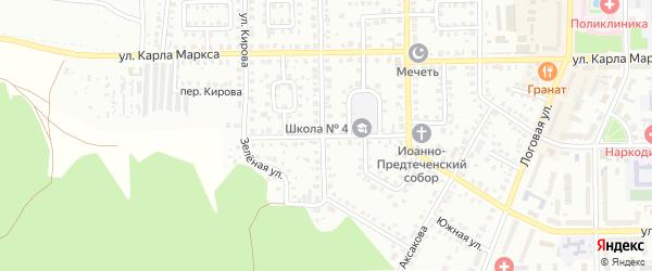 Улица Антошкина на карте Кумертау с номерами домов