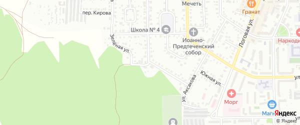 Зеленая улица на карте Кумертау с номерами домов