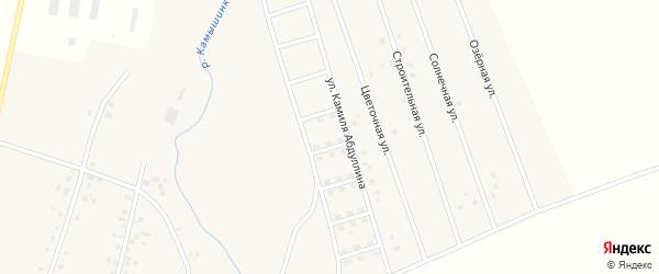 Вишневский переулок на карте села Старых Камышлы с номерами домов