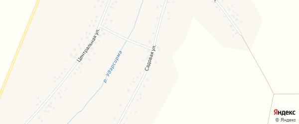 Садовая улица на карте деревни Наумкино с номерами домов