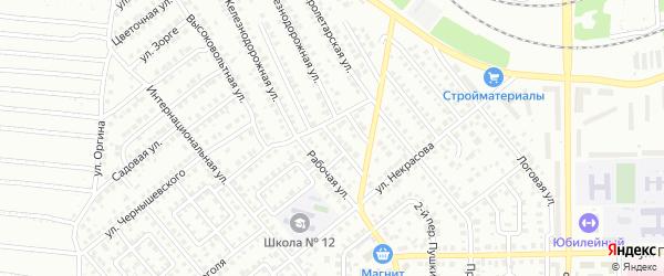 Рабочий 3-й переулок на карте Кумертау с номерами домов