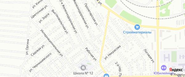 Интернациональный 2-й переулок на карте Кумертау с номерами домов
