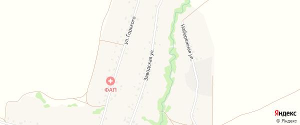 Заводская улица на карте села Новокайпаново с номерами домов