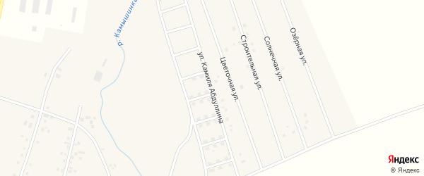 Улица Камиля Абдуллина на карте села Старых Камышлы с номерами домов