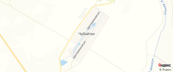 Карта деревни Чубайтала в Башкортостане с улицами и номерами домов