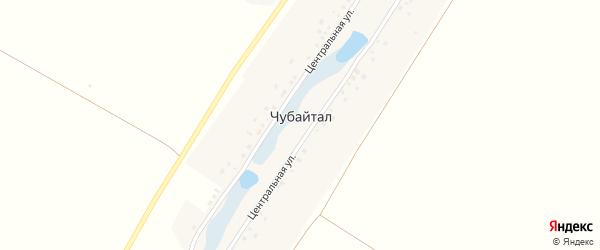 Центральная улица на карте деревни Чубайтала с номерами домов
