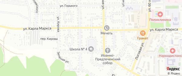 Школьный переулок на карте села Маячного с номерами домов
