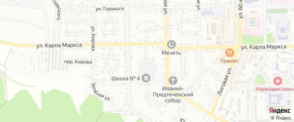 Школьный переулок на карте Кумертау с номерами домов
