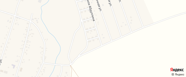 Уфимский переулок на карте села Старых Камышлы с номерами домов