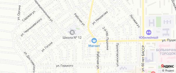 Рождественский 3-й переулок на карте Кумертау с номерами домов