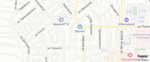 Новогодний 3-й переулок на карте Кумертау с номерами домов