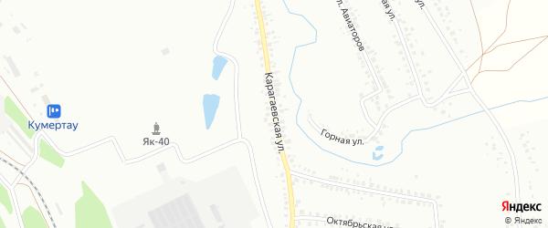 Карагаевская улица на карте Кумертау с номерами домов
