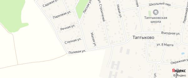 Малая улица на карте села Таптыково с номерами домов