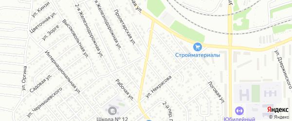 Пролетарский 3-й переулок на карте Кумертау с номерами домов