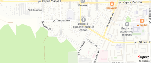 Рабочий 1-й переулок на карте Кумертау с номерами домов