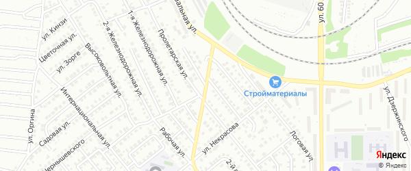 Пролетарский переулок на карте Кумертау с номерами домов