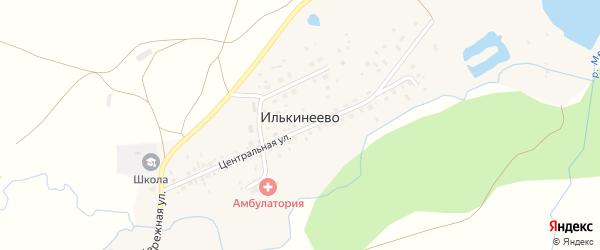 Молодежная улица на карте деревни Илькинеево с номерами домов