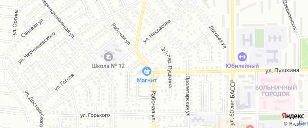 Пушкина 2-й переулок на карте Кумертау с номерами домов