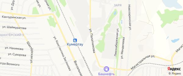 Территория Сооружение дорожного транспорта на карте улицы Палатникова с номерами домов