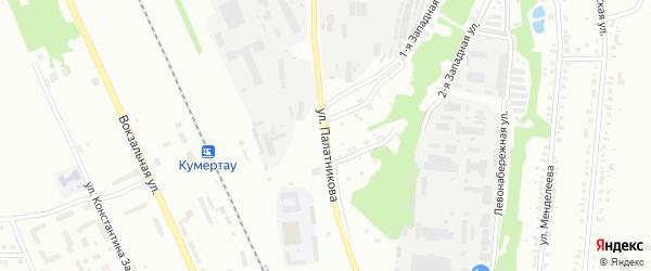 Улица Палатникова на карте Кумертау с номерами домов