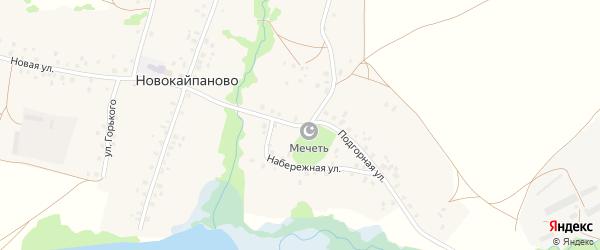Подгорная улица на карте села Новокайпаново с номерами домов