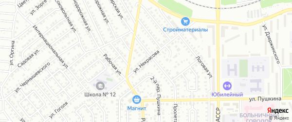 Улица Некрасова на карте Кумертау с номерами домов